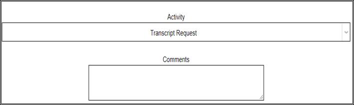 Transcript Request Screen